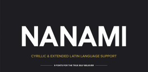 Font NANAMI