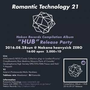 "ROMANTIC TECHNOLOGY 21 ~Nekon Records Compilation ""HUB"" Release Party~"