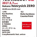 ROMANTIC TECHNOLOGY 32 @2017.5.7(日) 中野 heavysick ZERO